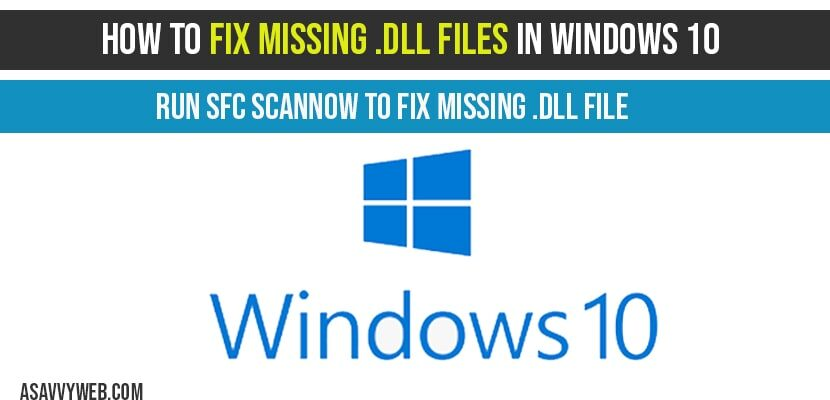 How to Fix Missing-missing-dll-files-in-windows-10