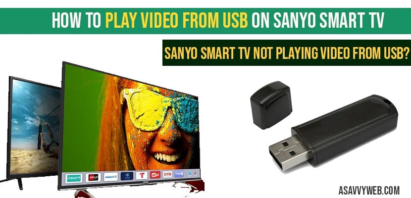 How to Play Video From USB on Sanyo Smart tv