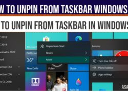 How to Unpin From Taskbar windows 10