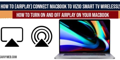 How to-airplay-connect MacBook to VIZIO Smart tv wirelessly-Screen Mirroring