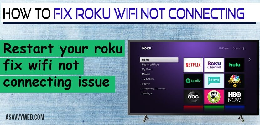 How to fix Roku wifi not connecting