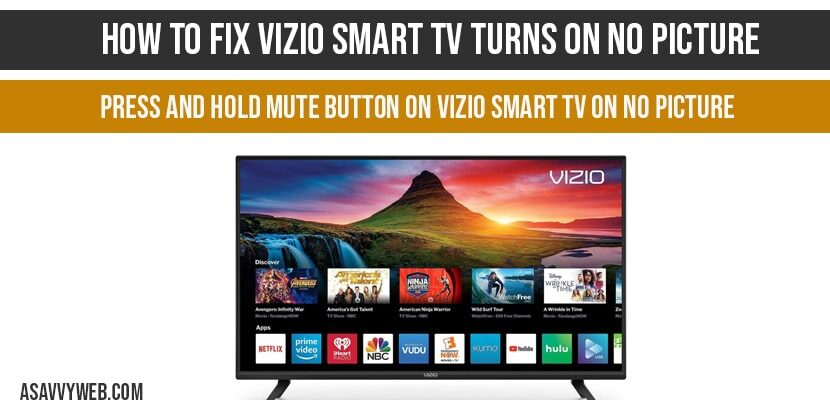 How to fix VIZIO Smart tv turns on no picture-min