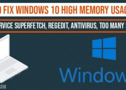 How to fix windows 10 high memory Usage Issue