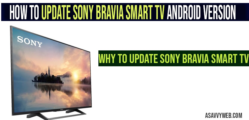 Sony Bravia Update Problem
