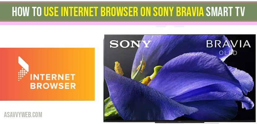 How to use internet browser on sony bravia tv