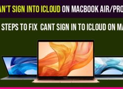 Can't sign into iCloud on MacBook air-pro
