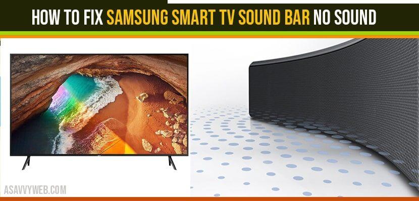 How to Fix Samsung Smart TV Sound Bar No Sound