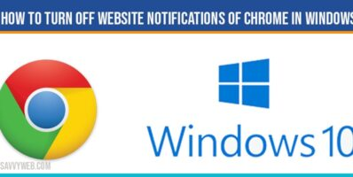 How to Turn off Website Notifications of chrome in windows 10