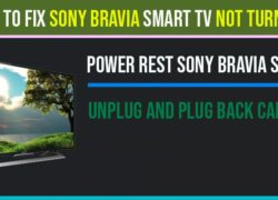 How to fix Sony Bravia smart tv not turning on
