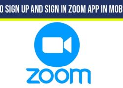 How to sign up and Sign in Zoom App in Mobile