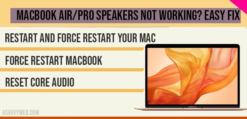 MacBook air-pro Speakers not working