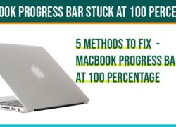 MacBook progress Bar Stuck at 100 Percentage