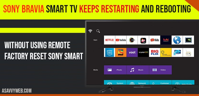 Sony Bravia Smart TV Keeps Restarting and Rebooting