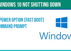 Windows 10 not shutting down