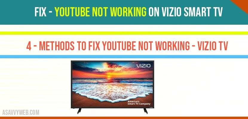 Fix - YouTube not working on Vizio Smart Tv