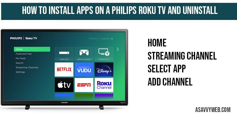 How to Install Apps on a Philips Roku TV