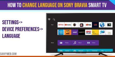 How to change language on Sony Bravia Smart tv