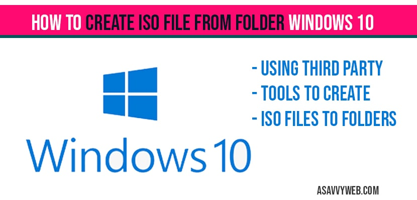 How to create iso file from folder windows 10