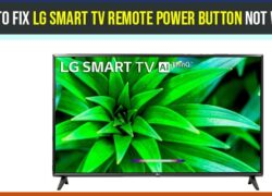 How to fix LG smart tv remote power button not working