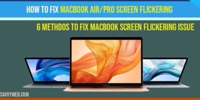 How to fix MacBook air-pro screen flickering