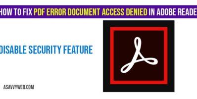 How to fix PDF Error Document Access Denied in Adobe Reader