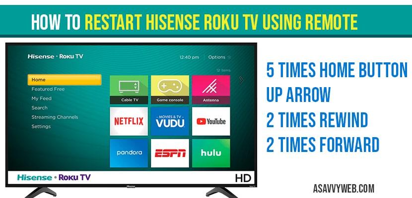 How to restart Hisense Roku tv Using Remote