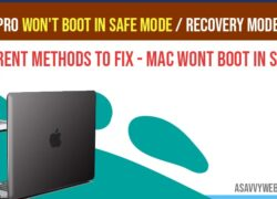 MacBook pro won't boot in safe mode - Recovery Mode Catalina or Mojave
