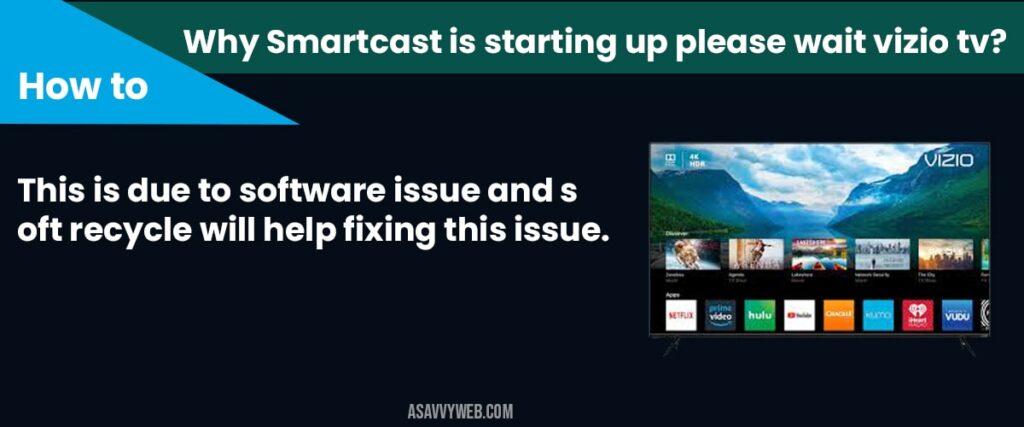 Smartcastis starting up please wait