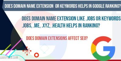 Does Domain extensions affect seo