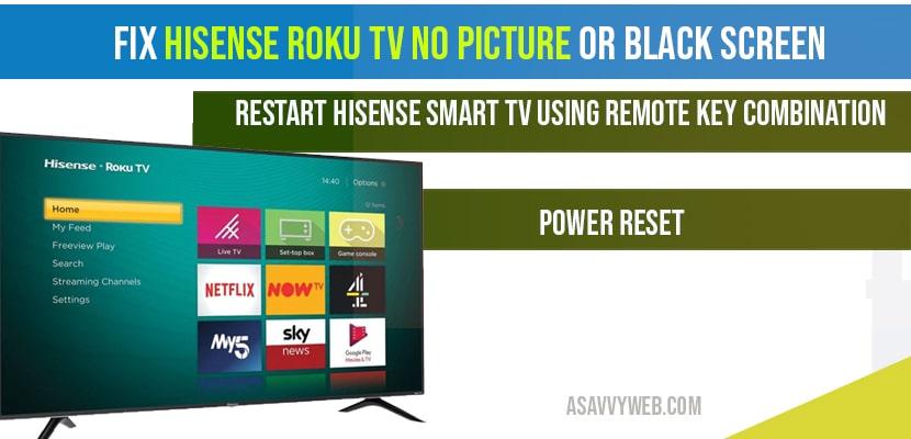 Fix Hisense Roku tv no picture or black screen