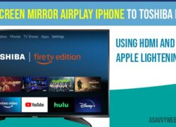 How to Screen Mirror Airplay iPhone to Toshiba fire TV with HDMI and Adapter