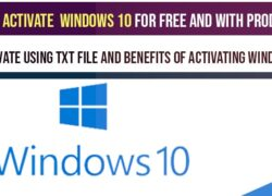 How to activate windows 10 for free (using txt) or Product key or remove windows 10 watermark