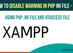 How to disable warning in php ini file