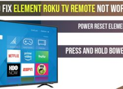 How to fix Element Roku tv Remote Not Working