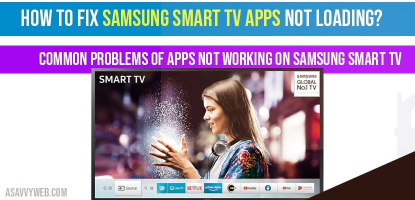 How to fix Samsung Smart tv Apps not loading