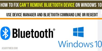 How to fix cant remote Bluetooth device on windows-10