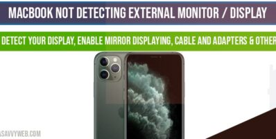 MacBook not detecting External Monitor-display