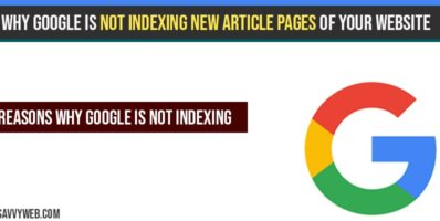 Why google is not indexing new article pages of your website