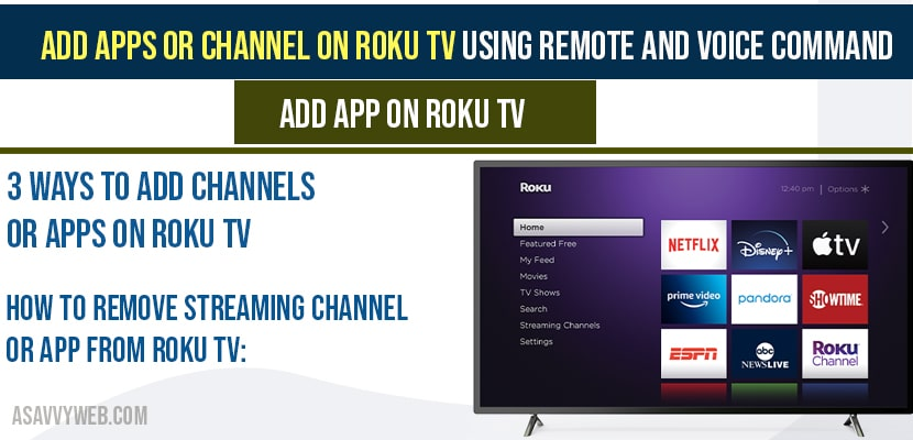 Add Apps or Channel on Roku Tv Using Remote and Voice Command