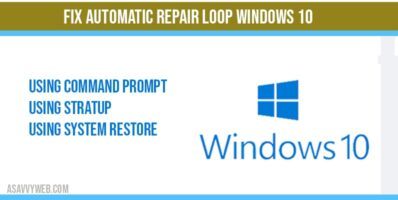 Fix automatic repair loop windows 10