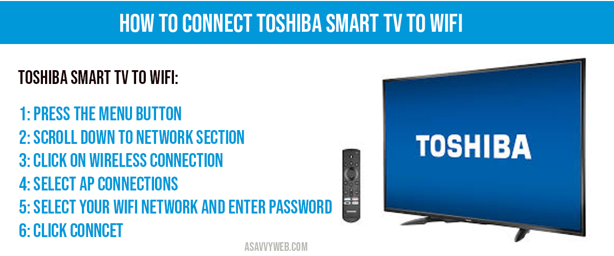 connect toshiba tv to wifi