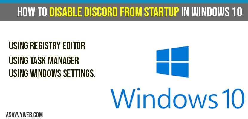 How to Disable discord on Startup in windows 10