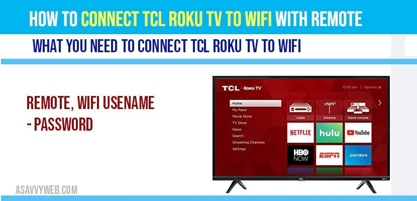 How to connect TCL Roku tv to WIFI with Remote