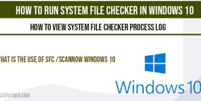 How to run system file checker in windows 10