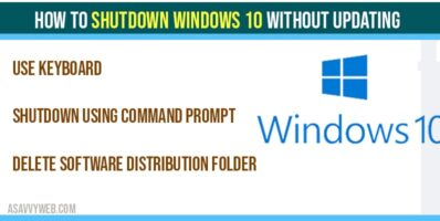 How to shutdown windows 10 without updating windows-min