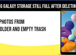 Samsung Galaxy storage still full after deleting photos