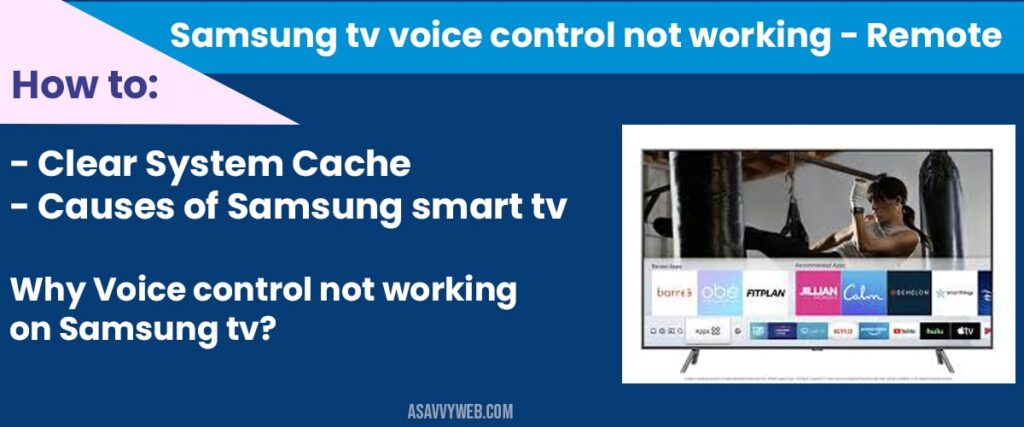 Samsung tv voice control not working