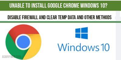 Unable to install google chrome windows 10-min