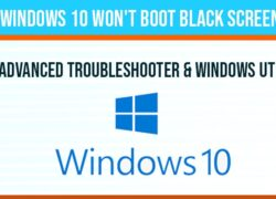 Windows 10 won't boot black screen: