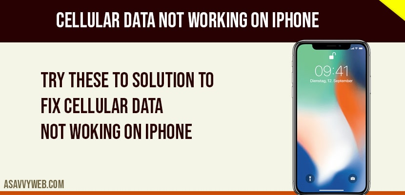 fix cellular data not working on iphone